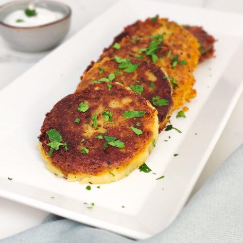 Saftige vegane Kartoffel-Karfiol-Laibchen